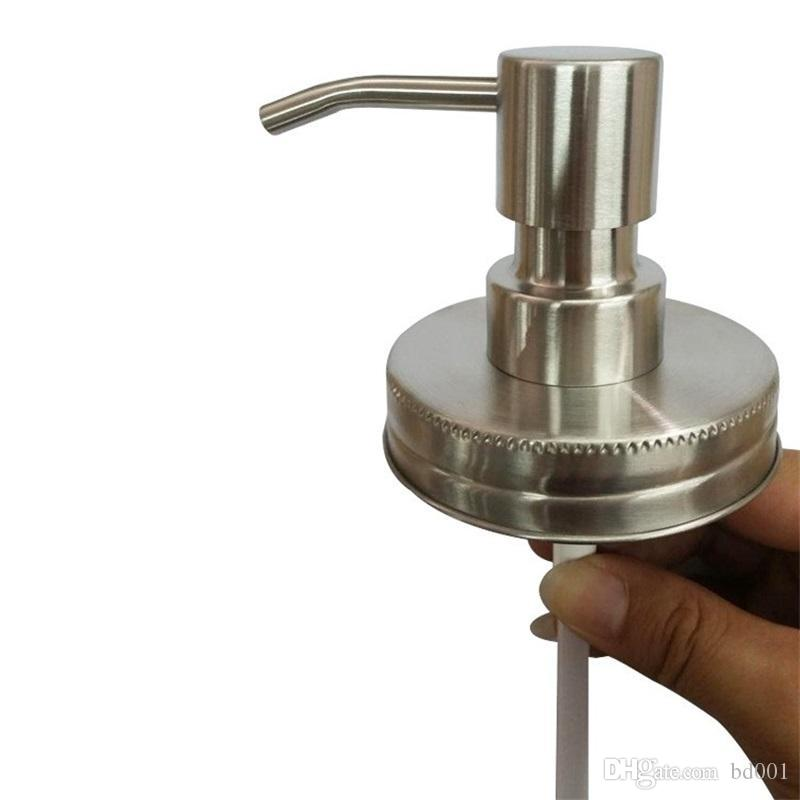 Stainless Steel Hand Lotion Nozzle Diy Glass Bottle Cap Fit Hotel