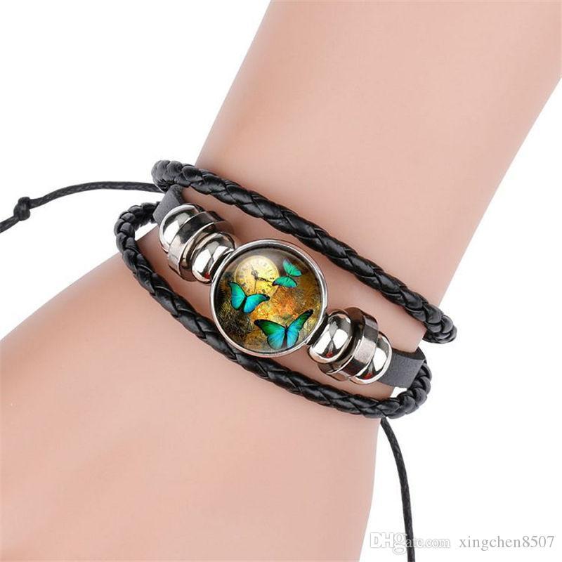 Bracelets de peau de vache tricotés pour bracelet de mode de sublimation pour l'impression par transfert thermique de bijoux personnalisés en gros 2018 style design