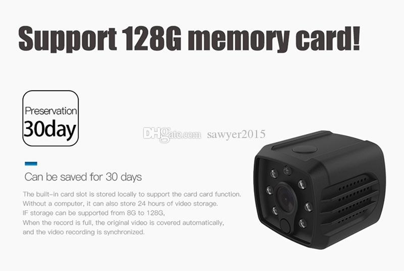 HD واي فاي كاميرا مصغرة DVR H7 اللاسلكية 1080P الأشعة تحت الحمراء للرؤية الليلية الكاميرا الرياضية المحمولة كاميرا طفل أمن الوطن فيديو مسجل عن بعد