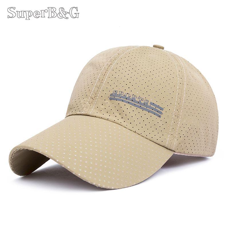 1ae44a59d2c SuperB G Baseball Cap Mesh Hat Men Women Thin Breathable Snapback ...