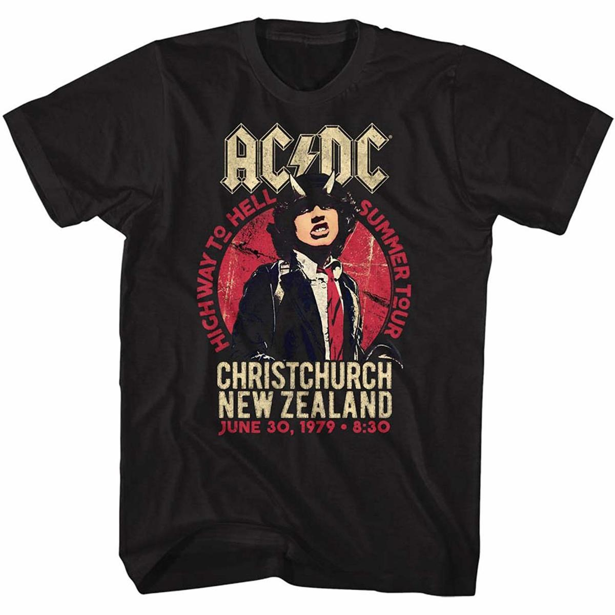d29cc643c AC/DC Mens NZ Tour T Shirt 100% Cotton T Shirts Brand Clothing Tops Tees  Cotton Low Price Plus Size For Teen Boys Harajuku Online Buy T Shirt Best T  Shirt ...
