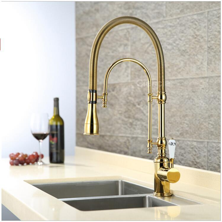 2018 luxury 3 type rose gold kitchen faucet single handle coldhot water tap brass deck mounted faucet with ceramic handle from baolv 30156 dhgatecom - Gold Kitchen Faucet