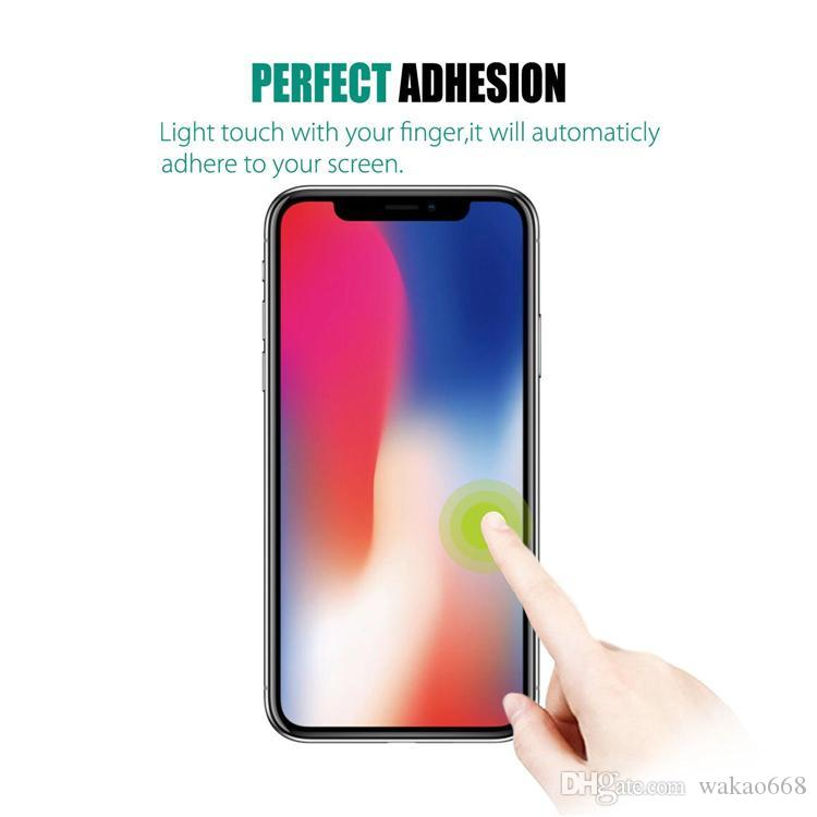For iPhone X XR XS MAX Screen Protector For Huawei P20 lite pro Mate 20 Tempered Glass 2.5D 9H Anti-shatter Paper Package