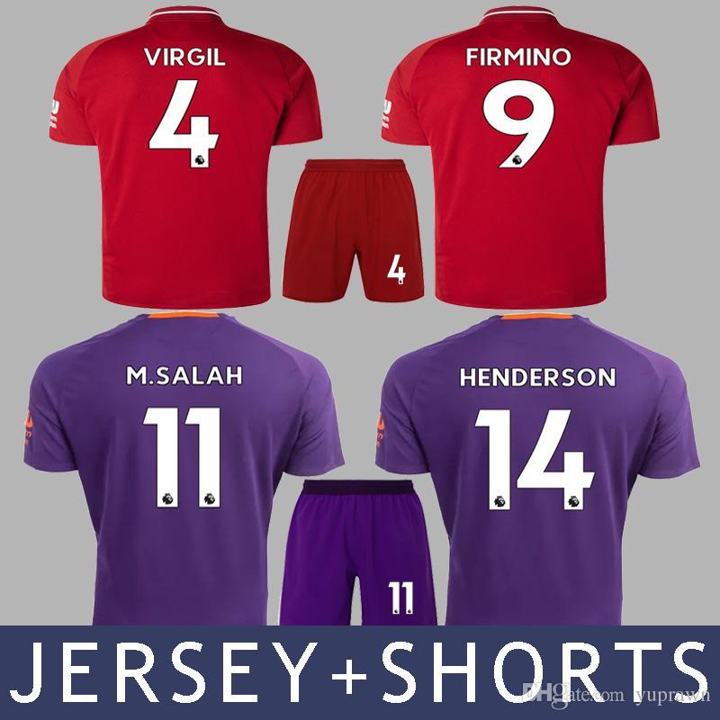Compre Liverpool Lfc 18/19 M.Salah Jersey + Shorts Firmino