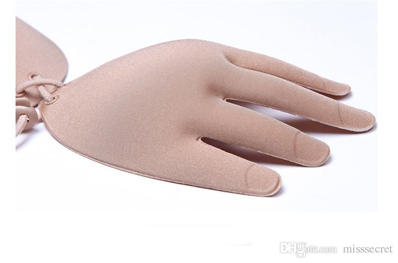 Nouveau Shell Main forme Femmes Invisible Soutien-gorge Sous-Vêtements Silicone Push Up Gather Bras