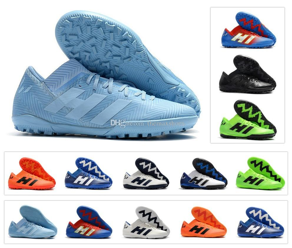 finest selection a242c 5061d 2019 New Arrival Nemeziz Messi Tango 18.3 TF IC Turf Cleats High Ankle 18  Mens Soccer Shoes Football Boots Cleats Size 6.5 11 From Themaxshoes, ...