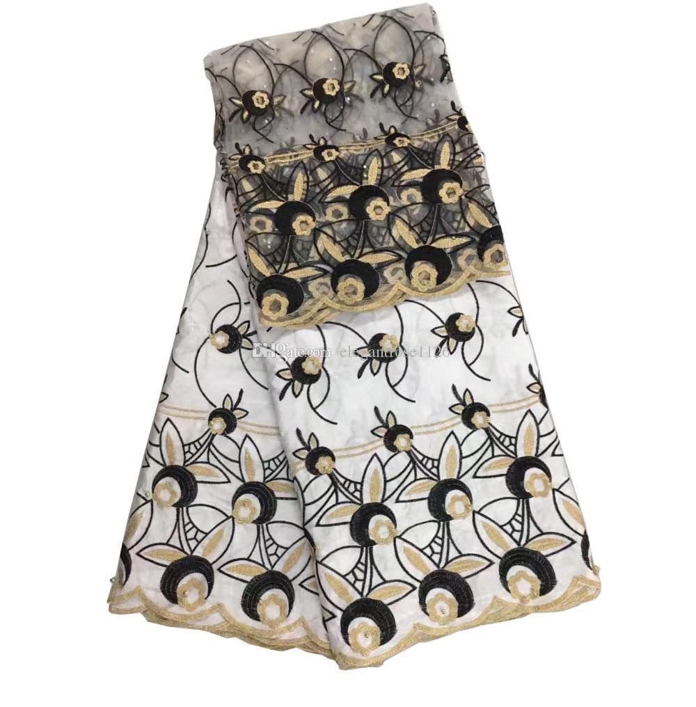 아프리카 레이스 패브릭 african embroidered fabric bazin riche getzner 구슬과 나이지리아 패션 드레스 GYBL0004