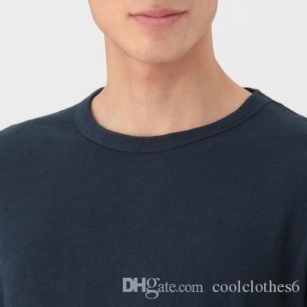 Maniche Cotone T A Muji Shirt Acquista In Lunghe Uomo Irregolare kiuOPXZT