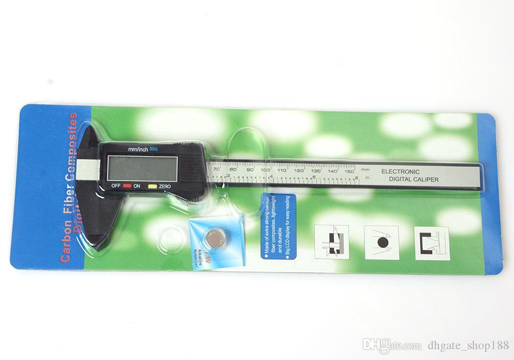 Calibro di plastica del calibro del calibro del calibro del calibro del calibro di Vernier del calibro di LCD di Digital di 150mm 6inch
