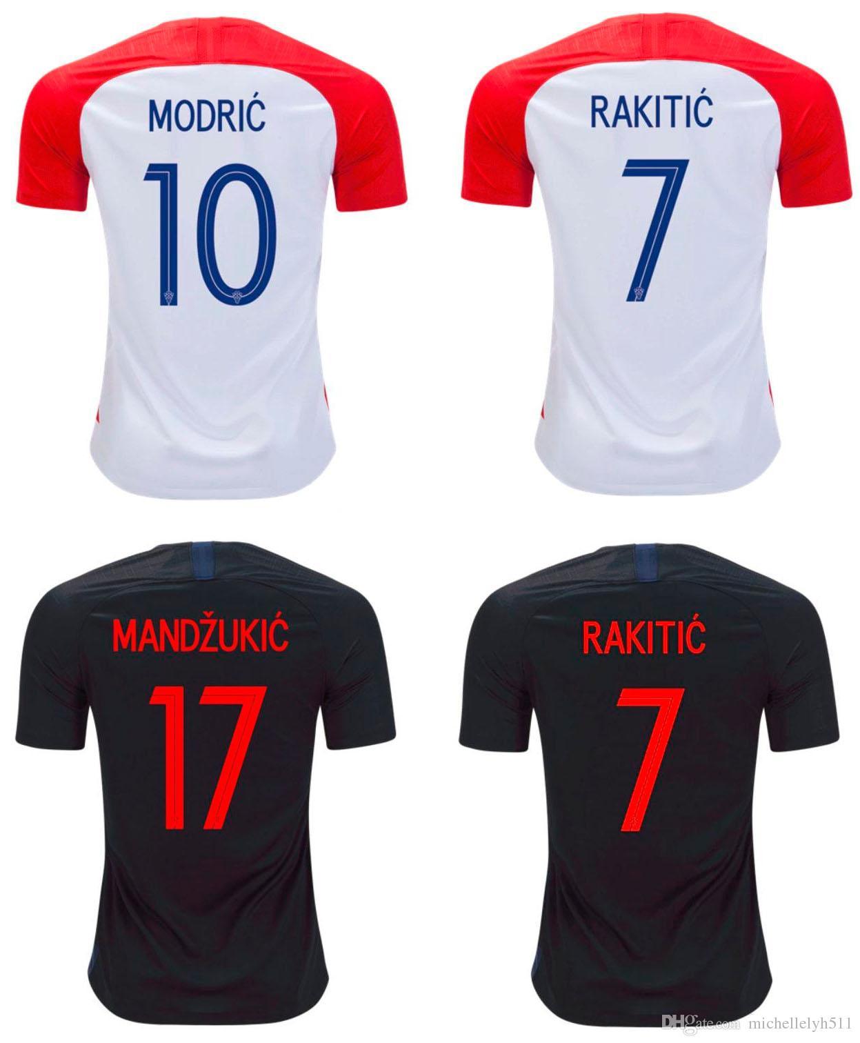 2018 Hrvatska Soccer Jersey MODERNO RÁPIDO RÁPIDO MANDZUKIC Equipo Nacional  Camisetas De Fútbol World Cup 2018 Hrvatska Uniformes De Fútbol Local  Visitante ... f6da44cb3