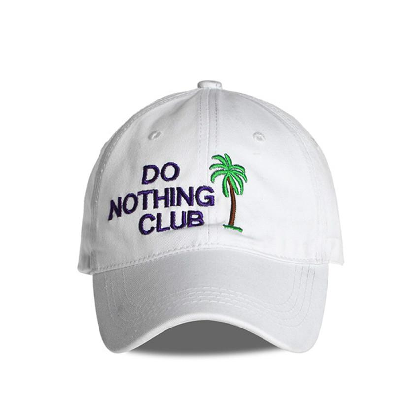 a343fa5d74820 Hip Hop Dad Hats Men Do Nothing Club Snapback Hats Coconut Tree Baseball Cap  Women Letter Snap Back Casual Sleep Forever MX17261 Hat Beanies From  Maxcomet