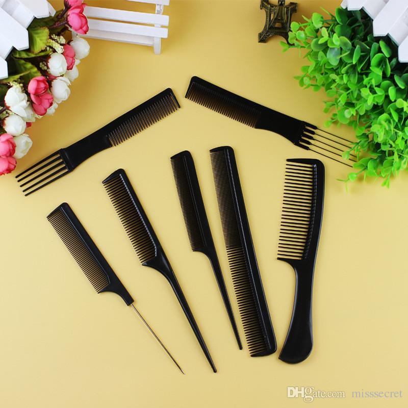 / Set Professionnel Brosse À Cheveux Peigne Salon De Coiffure Anti-statique Peignes À Cheveux