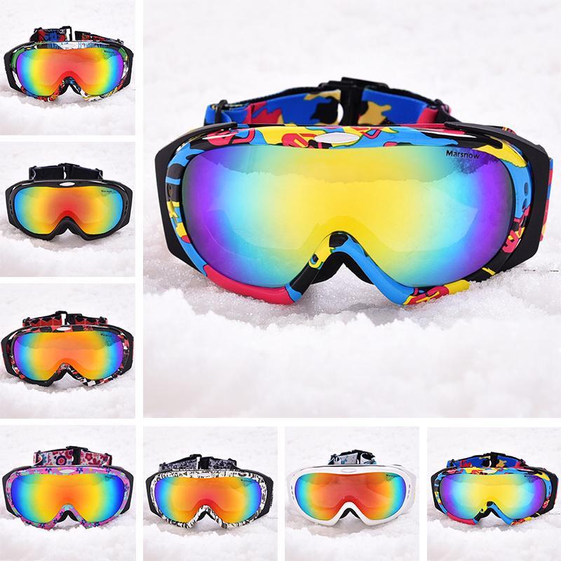 8505d96a66f68b Acheter Marsnow Hommes Ski Lunettes Professionnel Snowboard Lunettes Hiver UV400  Anti Brouillard Lunettes Motoneige Coupe Vent Lunettes Doubles Lentilles De  ...