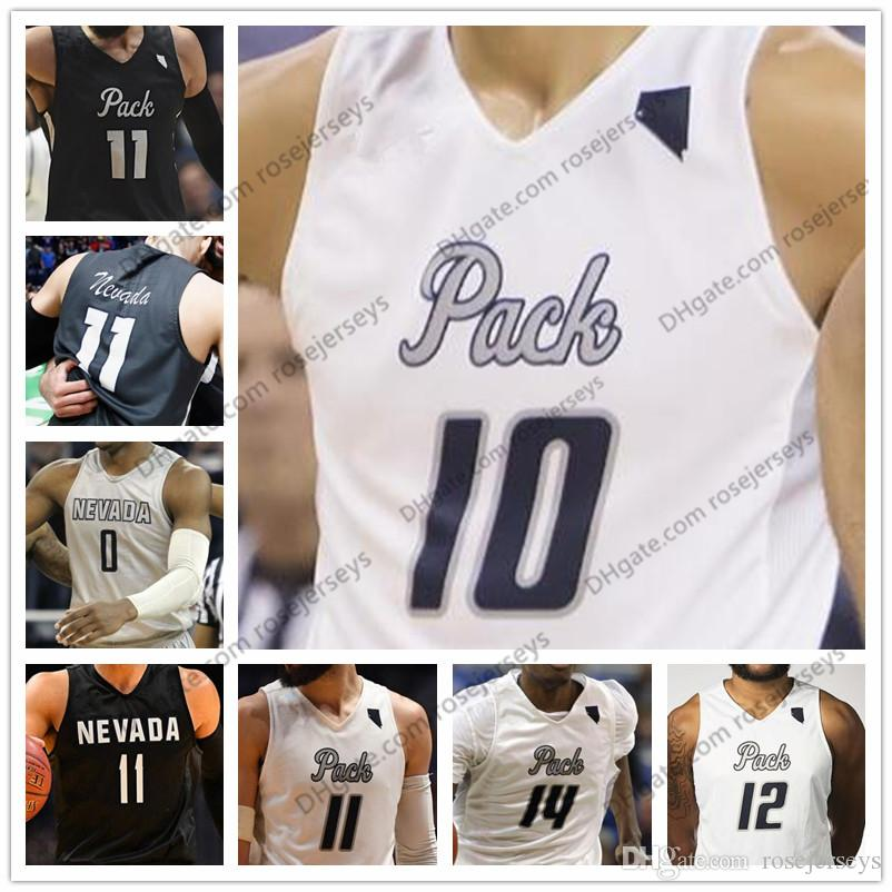 2018 custom nevada wolf pack college basketball white black personalized stitched any name number 10 caleb martin 11 cody ncaa jerseys s 4xl from