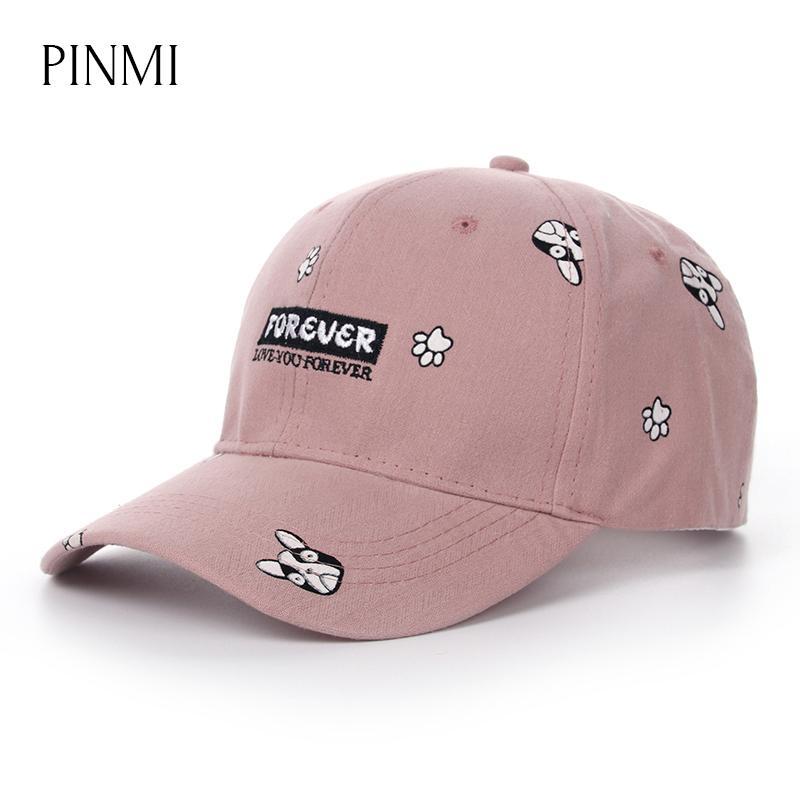 Pinmi Pink Baseball Cap Casquette Women 2017 Cute Dog Pattern Bone Snapback  Hat For Women High Quality Summer Hip Hop Caps Girl Gorras Men Hats Zephyr  Hats ... 54212efa672