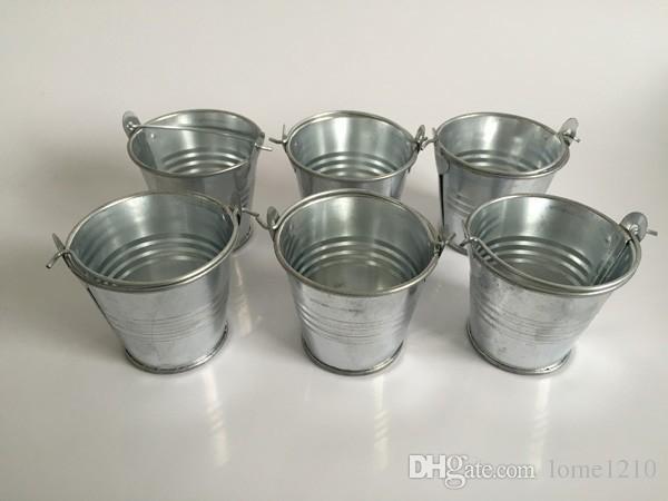 아연 도금 된 금속 양동이 파티 장식, 미니 화분 깡통 통, 미니 양동이 결혼식 파티 공급 호의