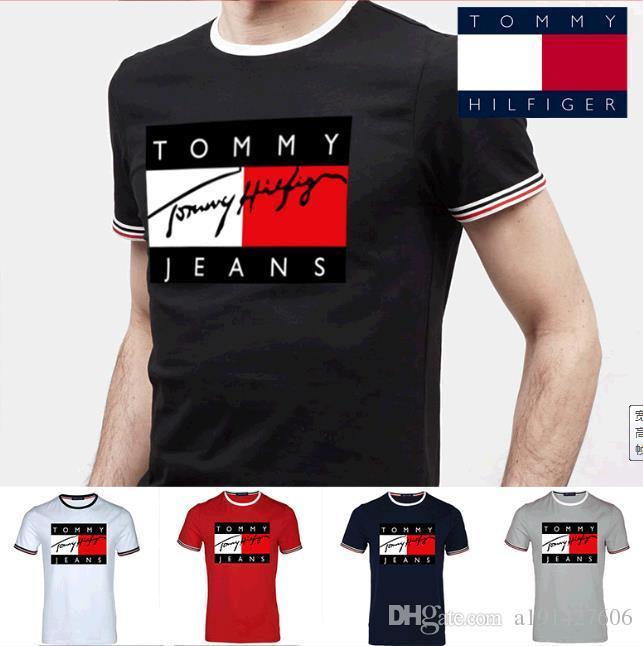 New Tommy Clothing Men s Casual Hip Hop Long T Shirt Men Black Tops T-shirts bb77f9a5998