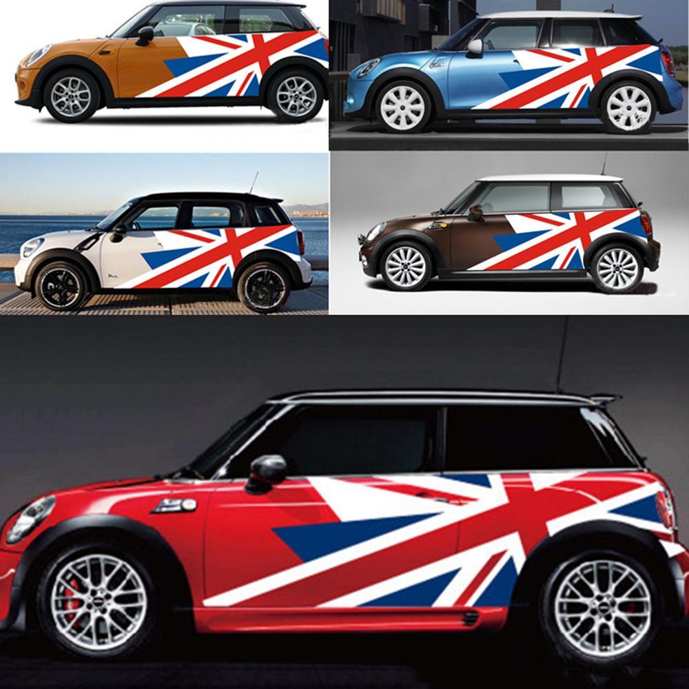 Acheter union jack voiture extérieur porte côté autocollant autocollant pour mini cooper countryman r60 r55 r56 f55 f56 f60 accessoires de style de voiture