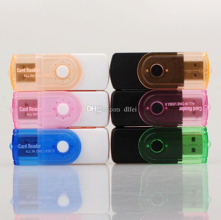 Multi card di prezzo di fabbrica in 1 adattatore USB 2.0 connettore micro SD TF M2 Memory stick MS Duo RS-MMC