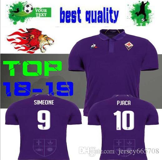 New 18 19 Fiorentina SOCCER JERSEY HOME Purple 2018 2019 PJACA DIKS ... 9f9cd958a