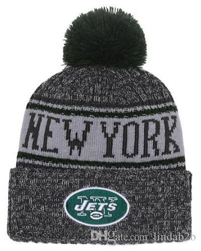 60a57481 2019 Team Jets Beanies NY Caps Pom Sports Hat Men Women Mix Order 32 Teams  All Caps Knitted Hat Top Quality Hat More 5000 Styles