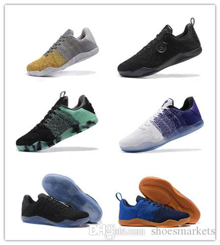 new arrival 43264 32791 2018 High Quality Kobe 11 Elite Men Basketball Shoes Kobe 11 Red Horse Oreo  Sneakers KB 11 Sports Sneakers With Shoes Box