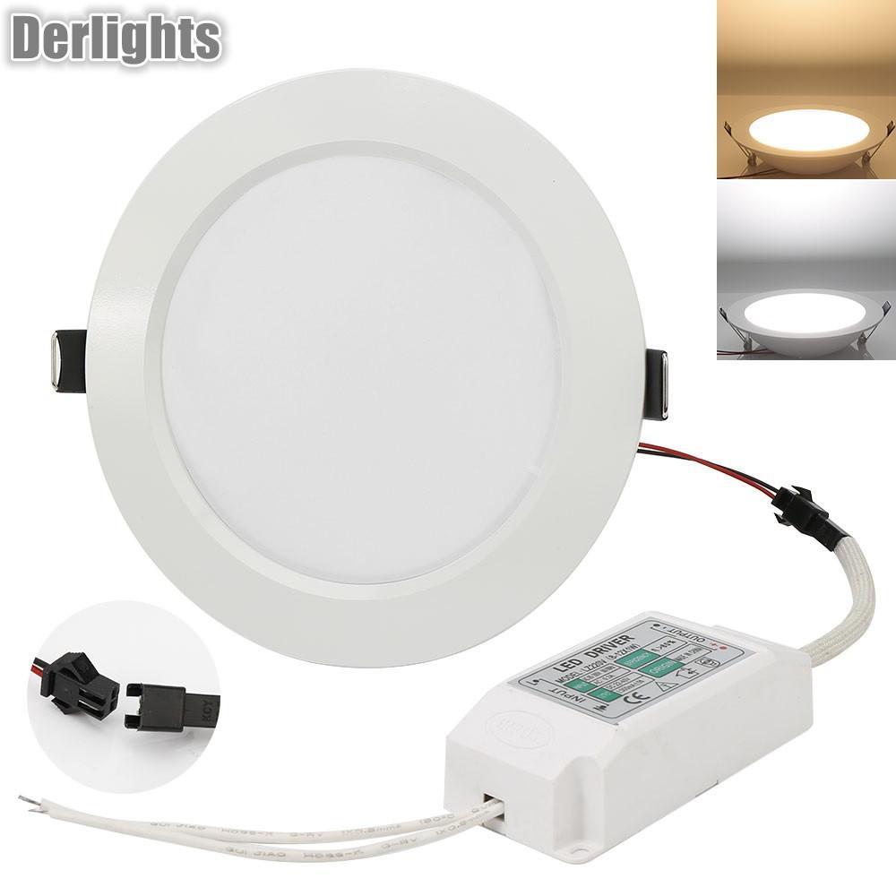 Regulable 7W / 9W / 12W / 15W / 18W / 25W Panel de iluminación LED Downlight AC85-265V Blanco / Blanco cálido Iluminación interior