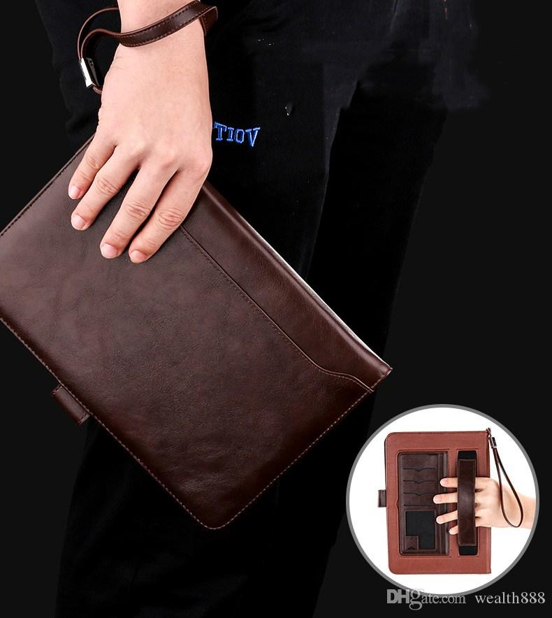 Flip Magnet Stand Leather Case Cover For New iPad Pro 10.5 Business Briefcase Hand Holding Card Holder Pocket Bag for iPad Air Mini 4 3 2