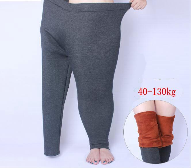 Acheter Legging Épais D hiver Grande Taille XL 6XL Pour Coton Élastique  Taille Élastique Femme Show All Match Black Leggings Plus Size Épaissir  Pantalon ... 6737ebe7352