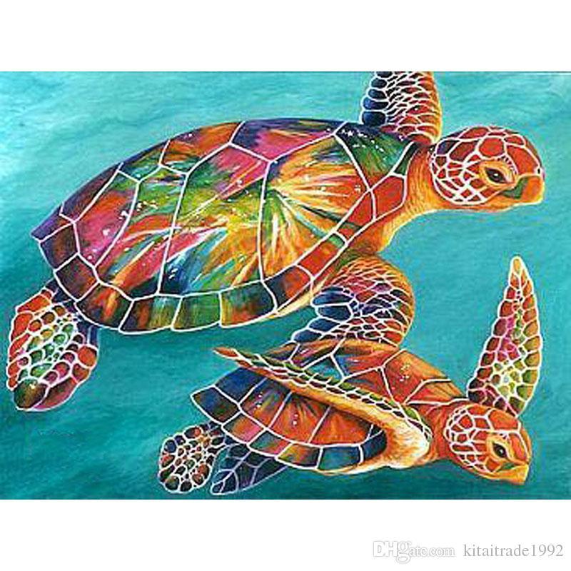Satın Al Elmas Boya Deniz Kaplumbağası Diy 5d Tam Elmas Nakış