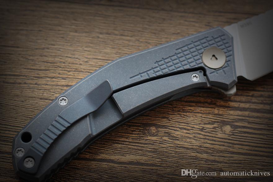 Зеленый шип ДЖИНСЫ карманный нож M390 складной нож Титановая ручка открытый охотничьи ножи Нож выживания отдых на природе рыбалка инструменты EDC