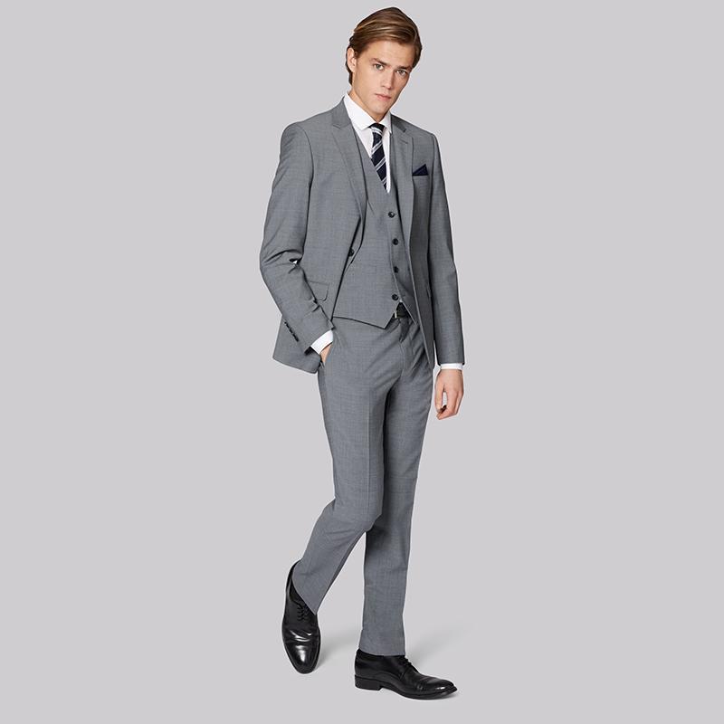 Acquista 2018 Grigio Uomo Abiti Eleganti Giacca Elegante Casual Business  Sposa Prom Slim Fit Classico Uomo Maschio Smoking 3 Pezzi A  199.06 Dal  Fabian05 ... 8866bed3f30