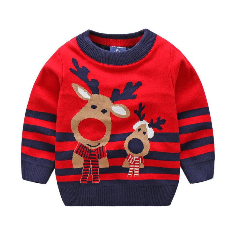 cartoon christmas baby sweater cute elk pattern children sweater boys girls pullovers o neck kids children clothing 2018 baby boy sweater knitting pattern