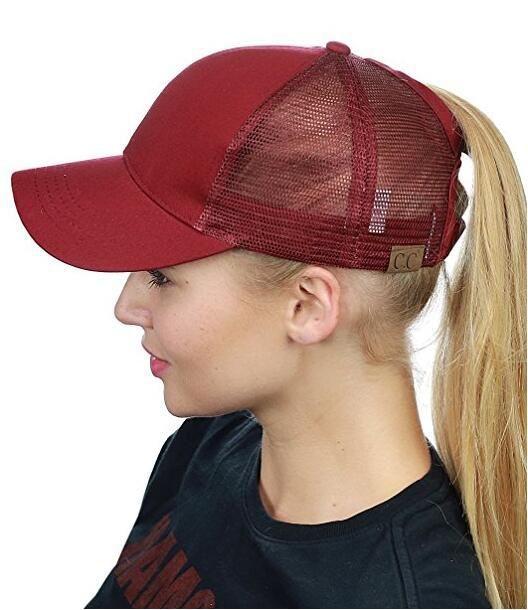 CC Pferdeschwanz Cap Messy Bun Frauen Pferdeschwanz Caps Cap Mode Mädchen Basketball Hüte zurück Loch Pony Schwanz KKA4383