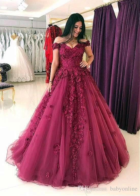 99a8ea2cef4 2018 Dark Red Lace Prom Dresses Off Shoulder 3D Floral Applique Elegant Evening  Formal Dresses 2018 Vestidos De Fiesta Robes De Bal 80s Prom Dresses Aqua  ...