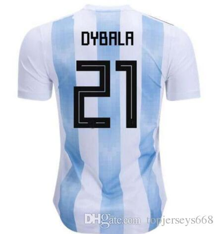 2019 2018 World Cup Argentina Away Jersey Argentina MESSI DYBALA DI MARIA  AGUERO HIGUAIN Soccer Shirt Home National Team Football Jersey From  Topjerseys668 f69877038