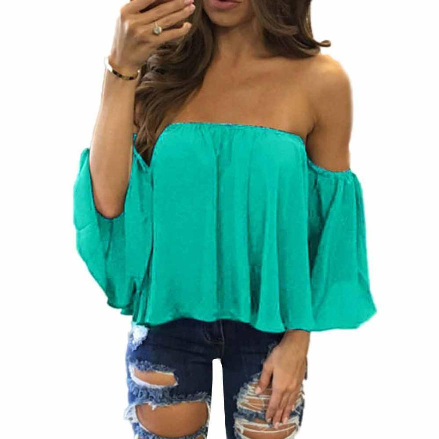 2019 Women Long Sleeve Pullover Shirts Off Shoulder Casual Blouse Sexy  Summer Off Shoulder Top Blusas Femininas Camisetas Mujer Tops From  Fafachai01 1b521c4b7