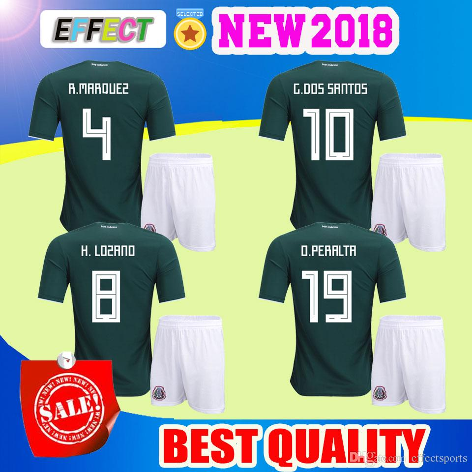 5dd7330dcb0 ... 10 g  2018 world cup mexico chicharito soccer jersey adult kits home g.dos  santos o.