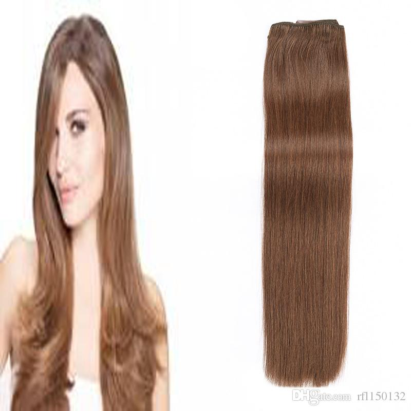 18 24 Brazilian Remy Straight Hair Clip In Human Hair Extensions