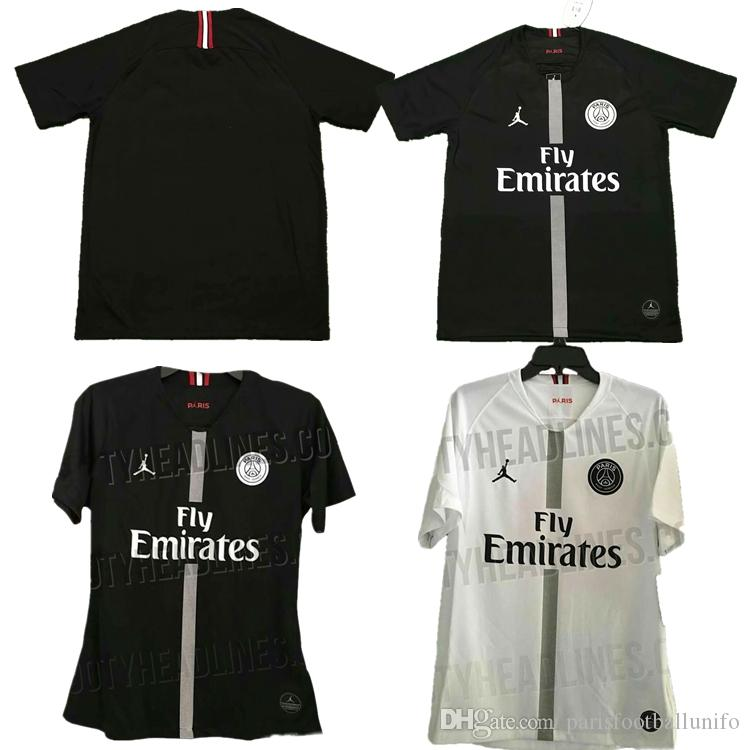 b7e4344b4 2019 2018 2019 New Psg Jerseys 18 19 Paris Jordam Tracksuit Home Black Away  White Soccer Jersey CAVANI Football Shirts MBAPPE Maillot De Foot From ...