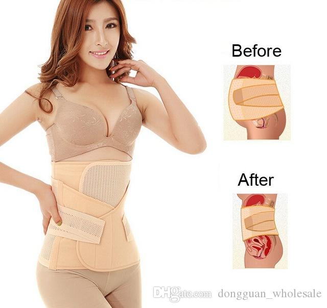 007459acd2 2019 Women Postpartum Pelvis Abdomen Shapewear Recovery Slim Body Shaper  Belly Wrap Waist Cinchers Breathable Trainer Corset From  Dongguan wholesale