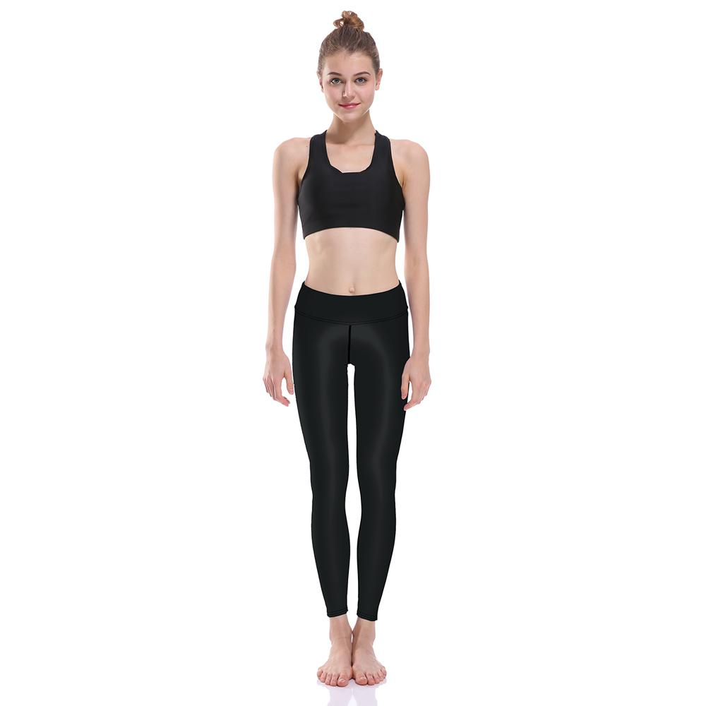 7c19697837e30 LOVE SPARK Women's Lady Solid Black Sport Workout Leggings Pants High Waist  Stretched Gym Fitness Yoga Pants Running Clothes