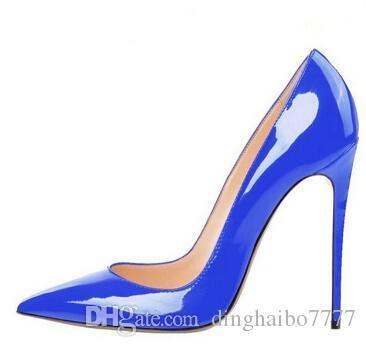 d391a8e342536 Acheter Marque Originale Femmes Classiques Pompes Talons Rouges Chaussures  À Talons Hauts En Cuir Verni Chaussures
