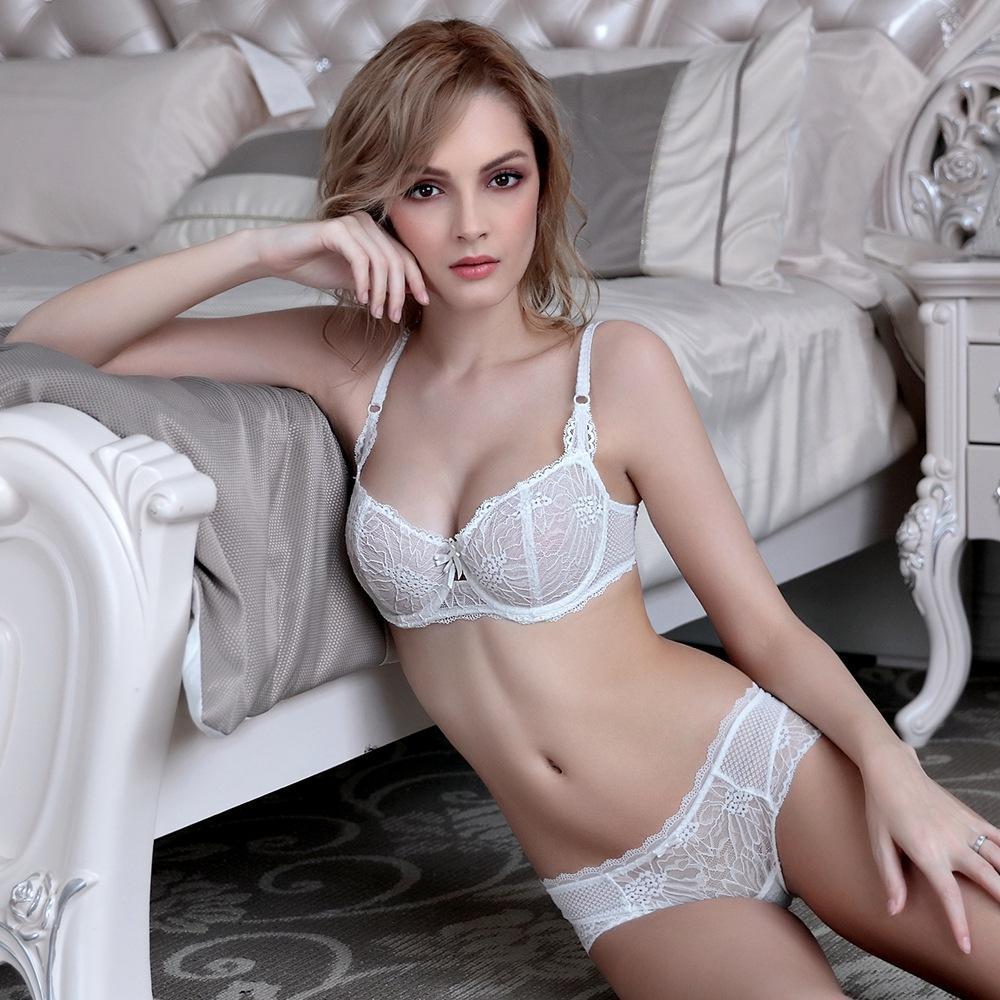 Yeni 2016 Moda nefes rahat seksi dantel iç çamaşırı külot yukarı itin sutyen seti
