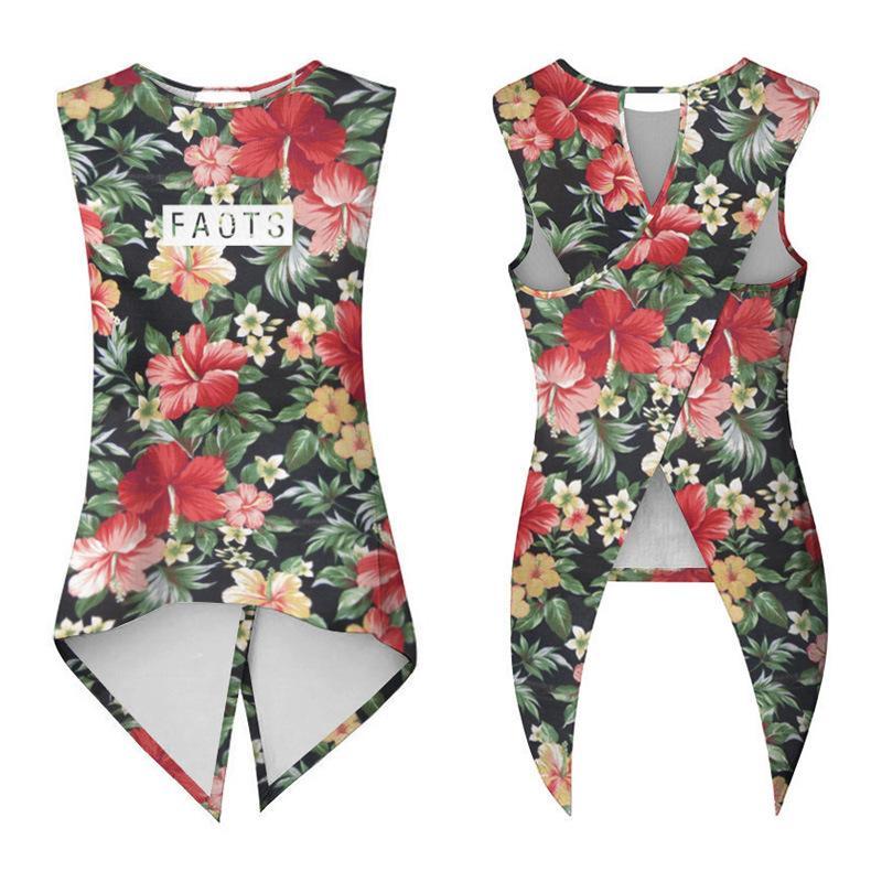 09e12da2b1b31 2019 Leezeshaw 2018 Retro Cool Women Sexy Tops High Definition 3D Tie Dye  Print Summer Beach Sleeveless Backless Casual Tank Tops From Bevarly