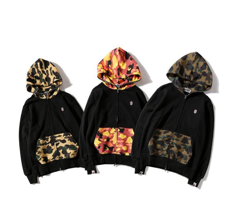 52dadb5e7fb Plus Size Men Jackets Coat Autumn Sweatshirt Hoodie Camouflage Windproof  Long Sleeve Brand Designer Hoodies Zipper Mens Clothing Hooded Womens Denim  Jacket ...