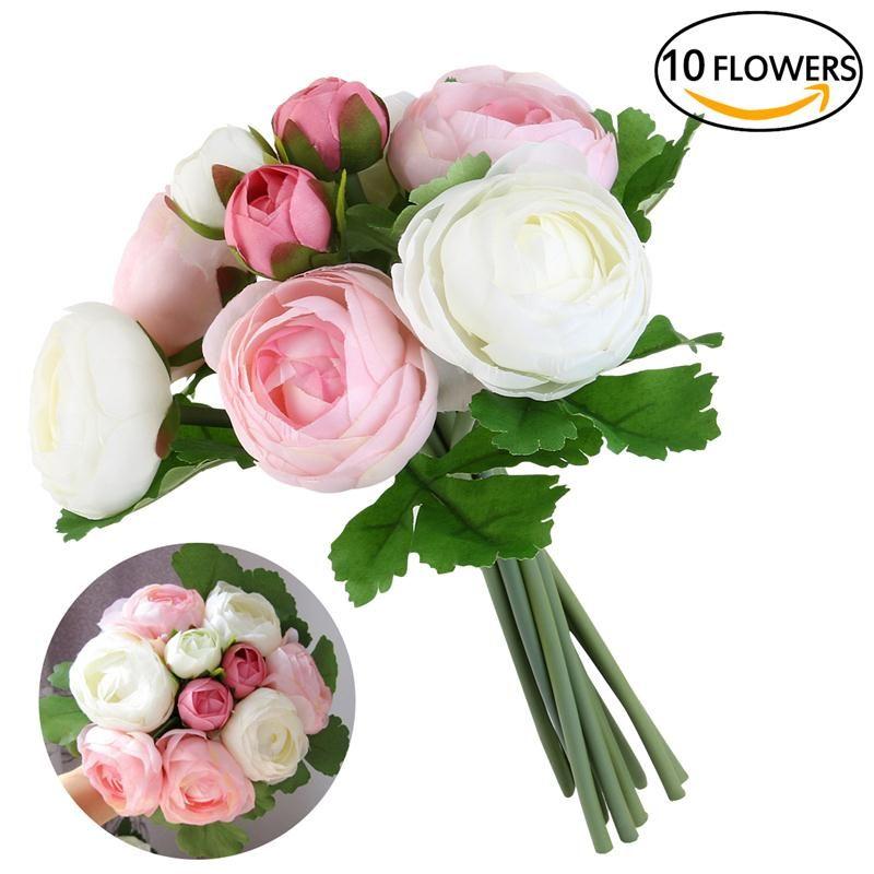 2018 Wedding Flower Bouquet Fake Leaf Wedding Flower Bridal Bouquets ...