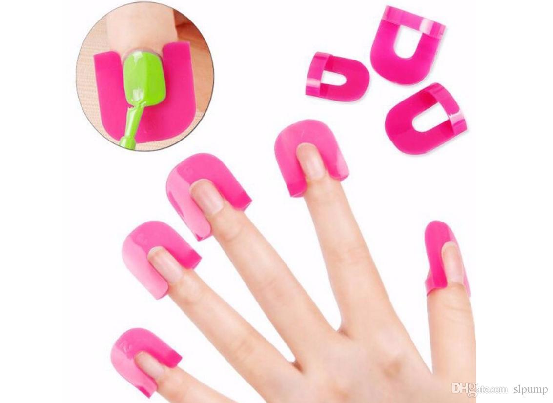 herramienta de manicura Nail Gel Model Clip 10 tamaño Nail Edge Gradient Print francés herramienta de prevención de desbordamiento de pegamento de esmalte de uñas