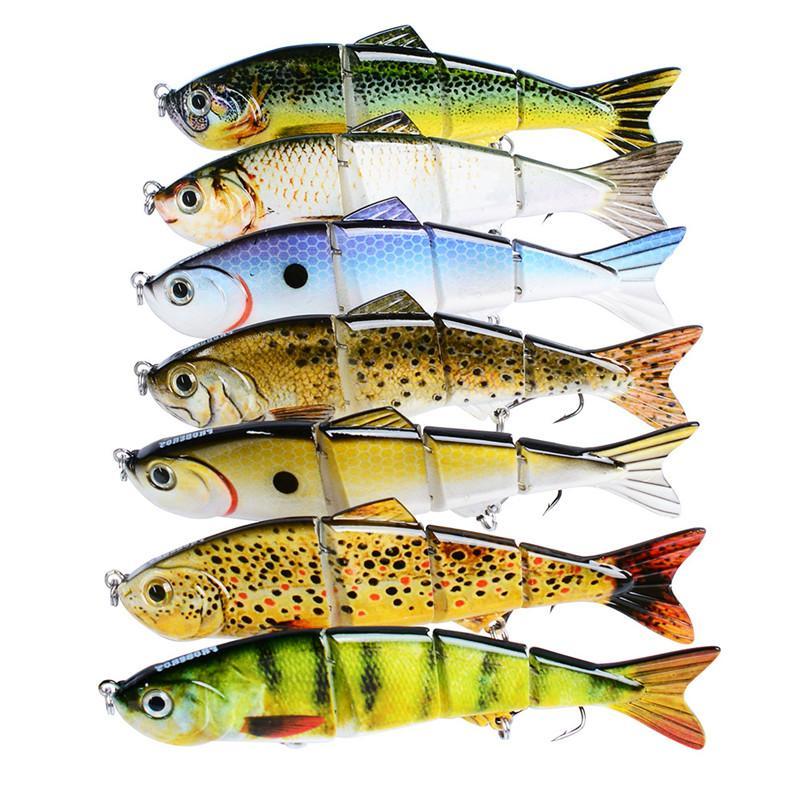 Alice mouth Fly Fishing flicker Minnow bass bait 12cm 17g 4 Segments Rattlin Crank Hard Lure