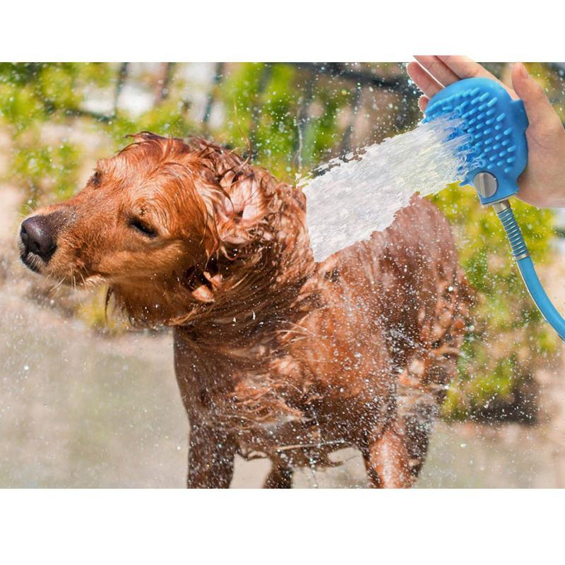 2018 Pet Bathing Tool Dog Shower Bath Sprayers Hair Brush Comb Hose ...